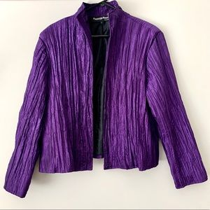 VINTAGE Painted Pony Purple Open Front Blazer L